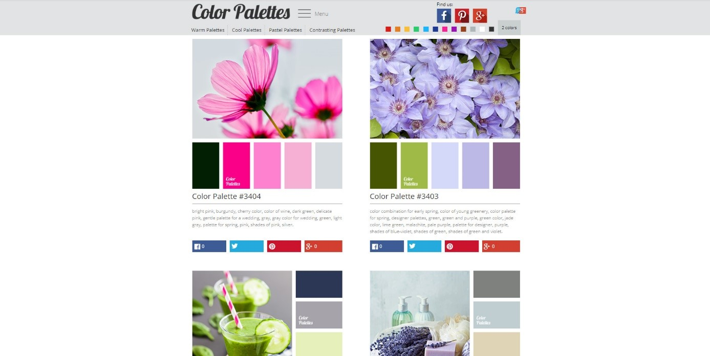 palety barw color palettes